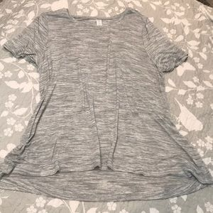 Old Navy luxe heather gray swing t shirt. Size XL
